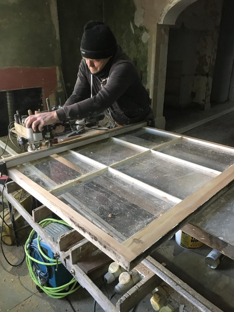 Draught proofing a sash window in Chester