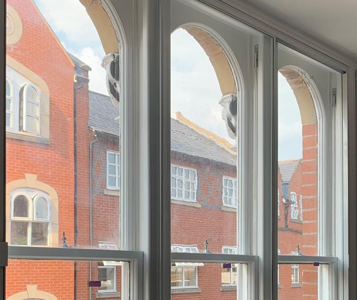 secondary glazing to a sash window in Chester Cheshire