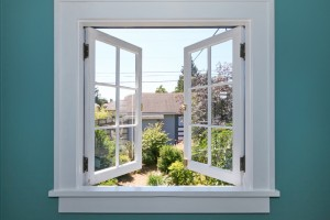 A casement window