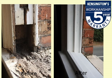 Sash window restoration pictures before and after repairs