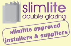 This is a logo about slimlite glass